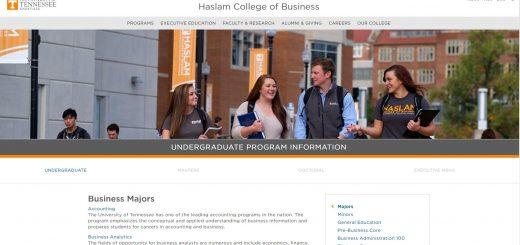 University of Tennessee Undergraduate Business