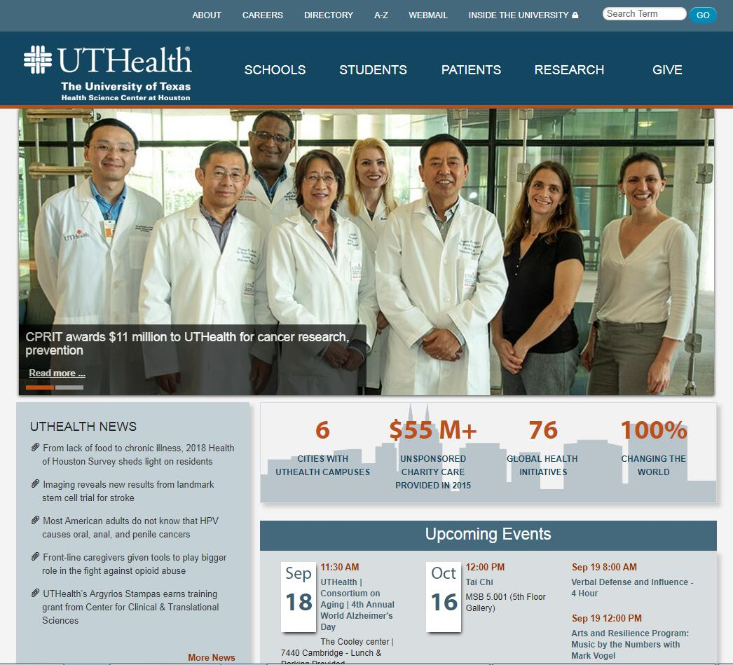 University of Texas Health Science Center–Houston Admissions Statistics and Rankings