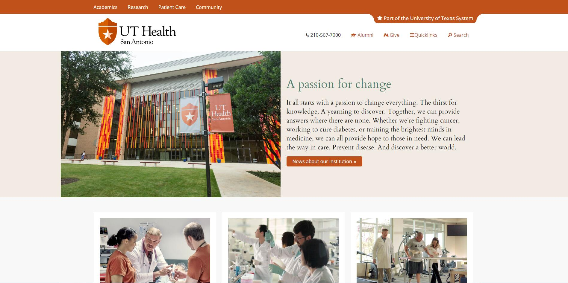 University of Texas Health Science Center–San Antonio Admissions Statistics and Rankings