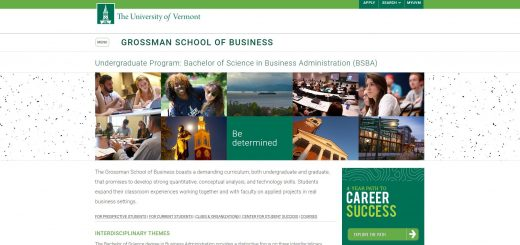 University of Vermont Undergraduate Business