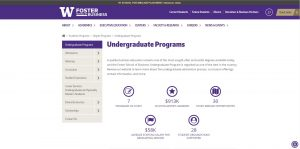 University of Washington Undergraduate Business