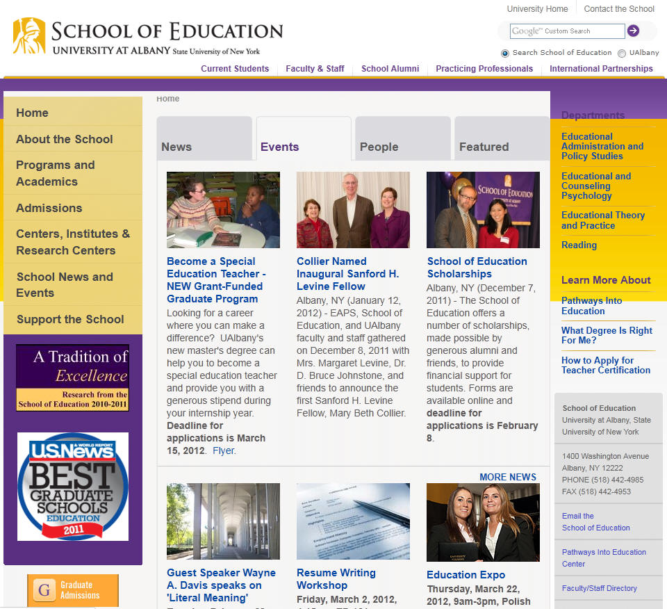 University at Albany SUNY School of Education