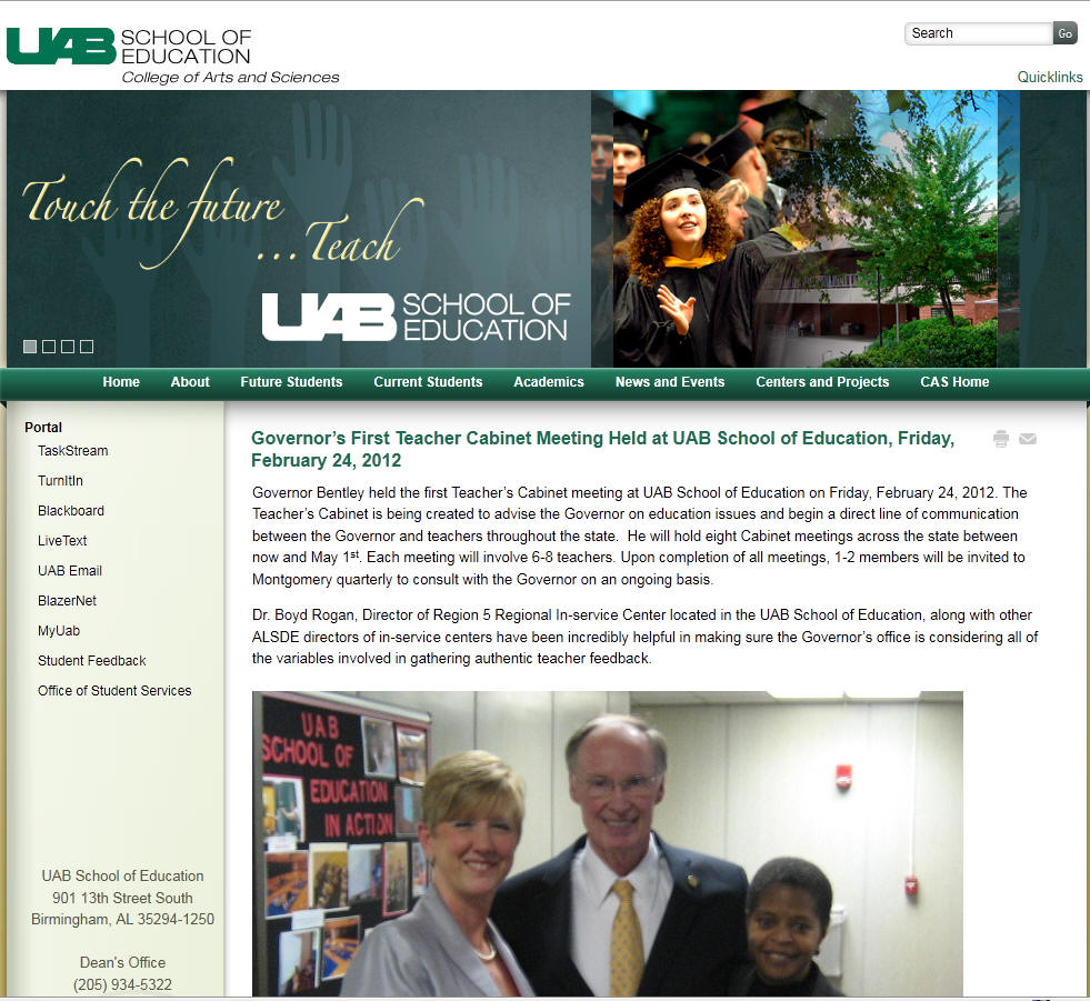 University of Alabama Birmingham School of Education