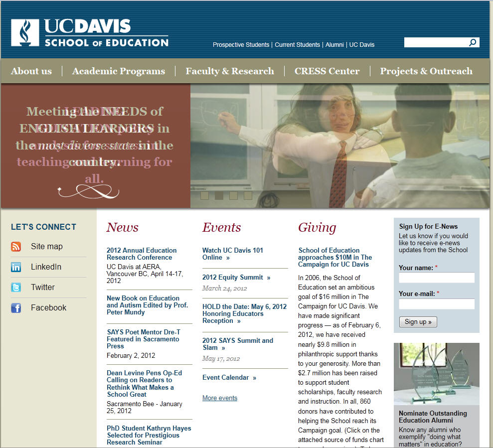 University of California Davis School of Education