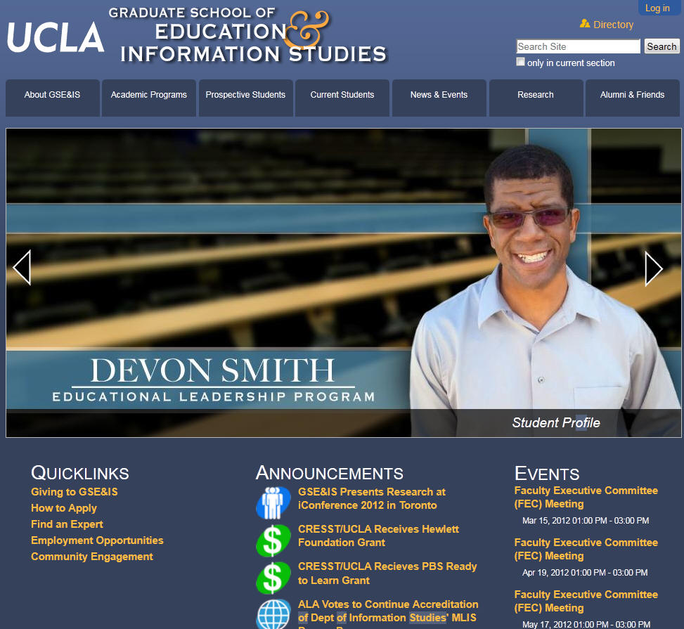 University of California Los Angeles Graduate School of Education and Information Studies