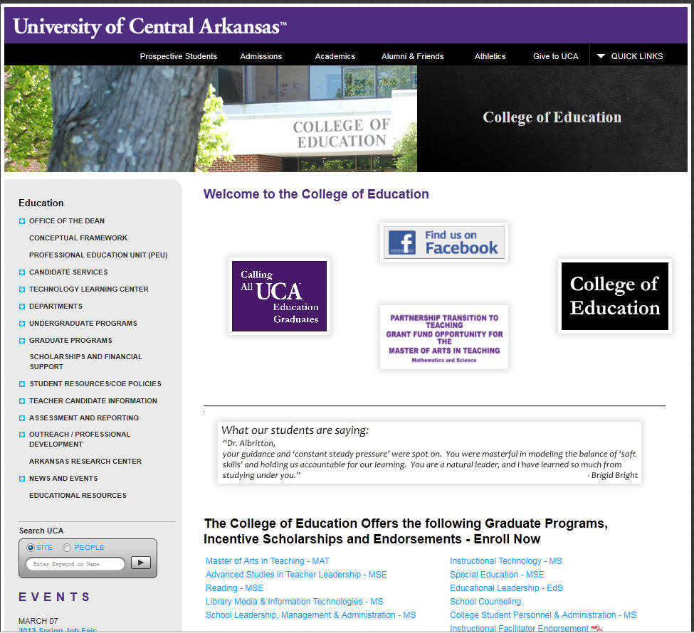 University of Central Arkansas College of Education