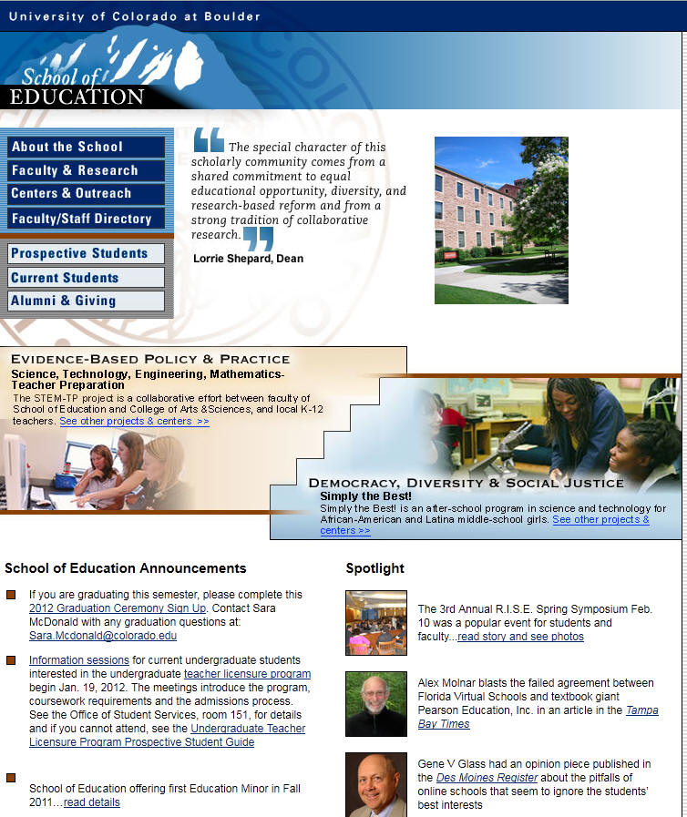 University of Colorado Boulder School of Education