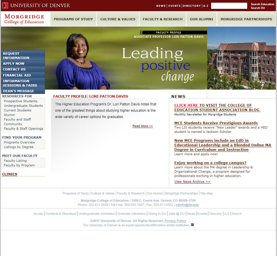 University of Denver Morgridge College of Education
