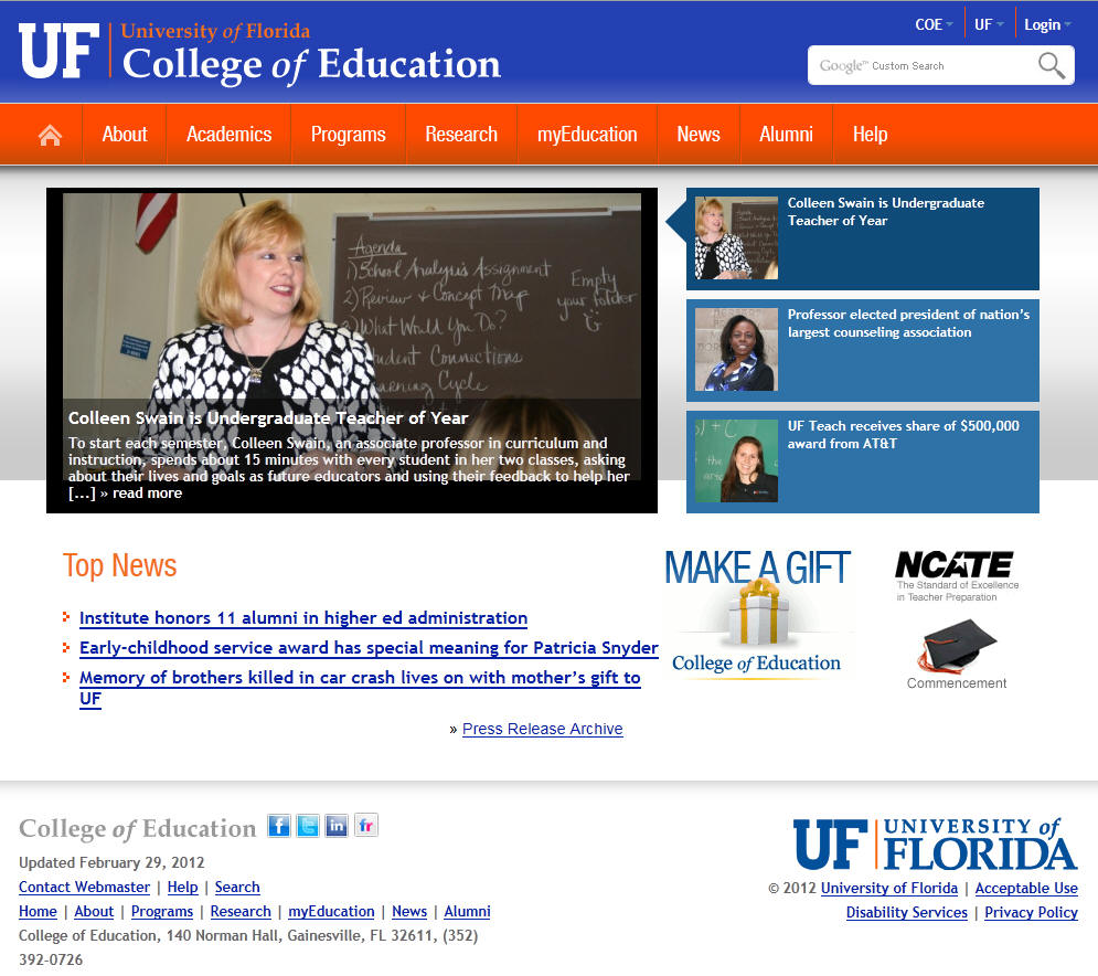 University of Florida College of Education