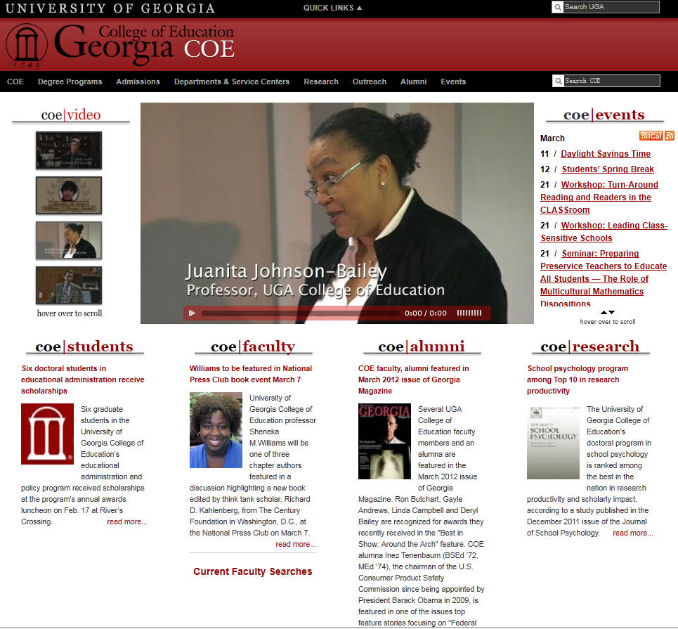 University of Georgia College of Education