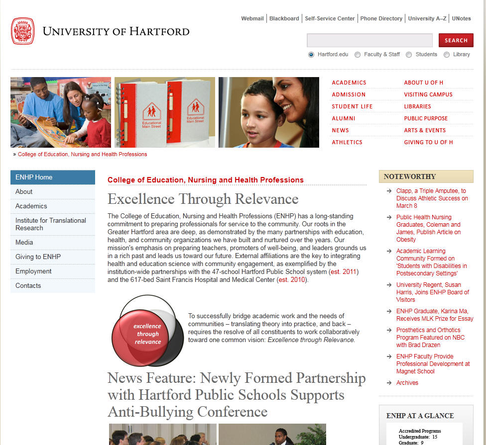 University of Hartford College of Education