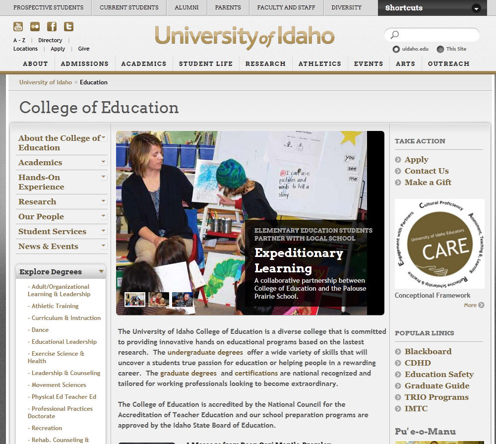 University of Idaho College of Education