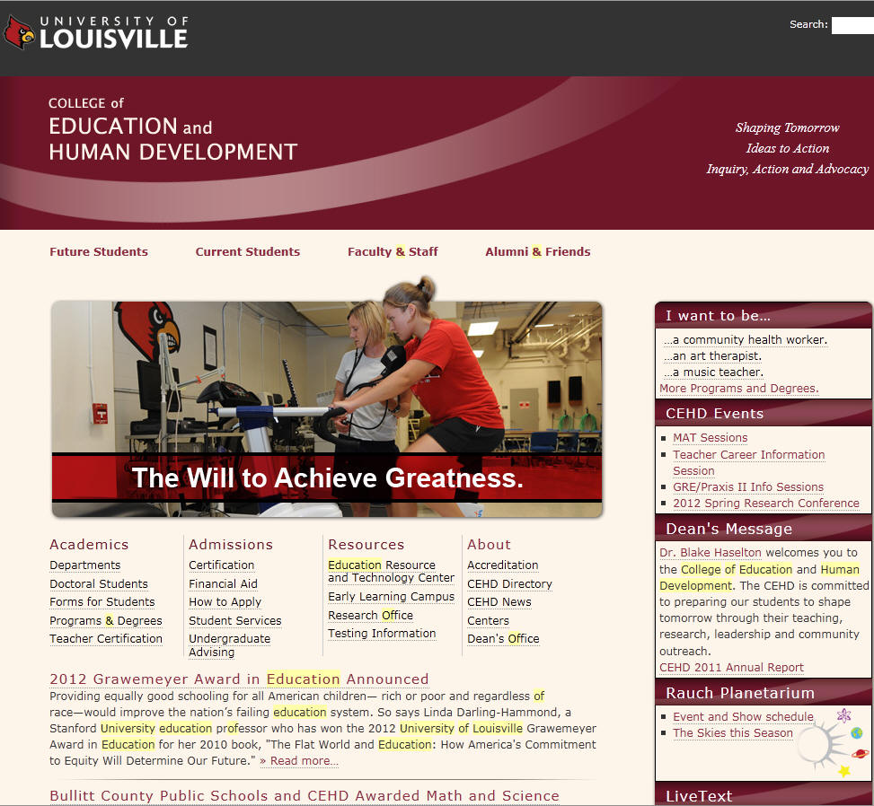 University of Louisville College of Education Human Development