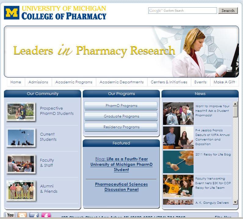 University of Michigan-Ann Arbor College of Pharmacy