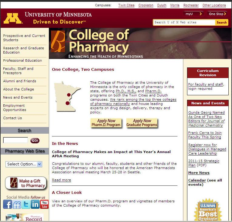 University of Minnesota-Twin Cities College of Pharmacy