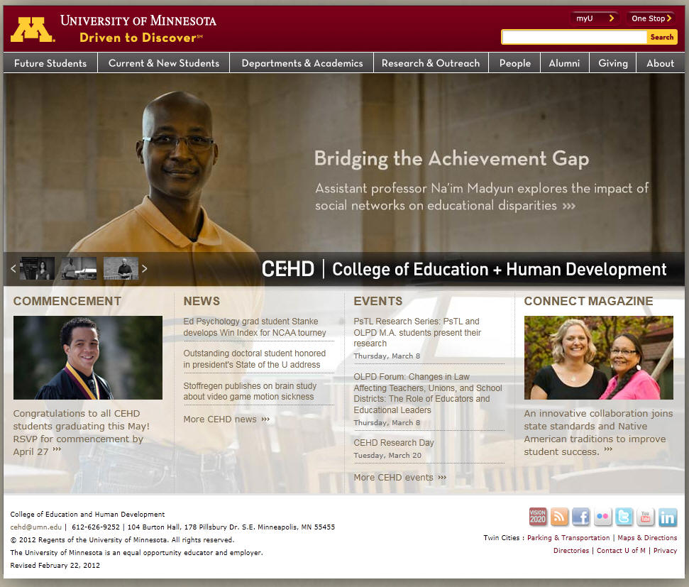 University of Minnesota Twin Cities College of Education and Human Development