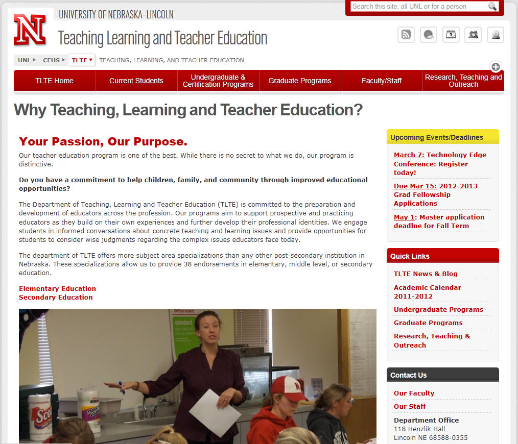 University of Nebraska–Lincoln Education Department