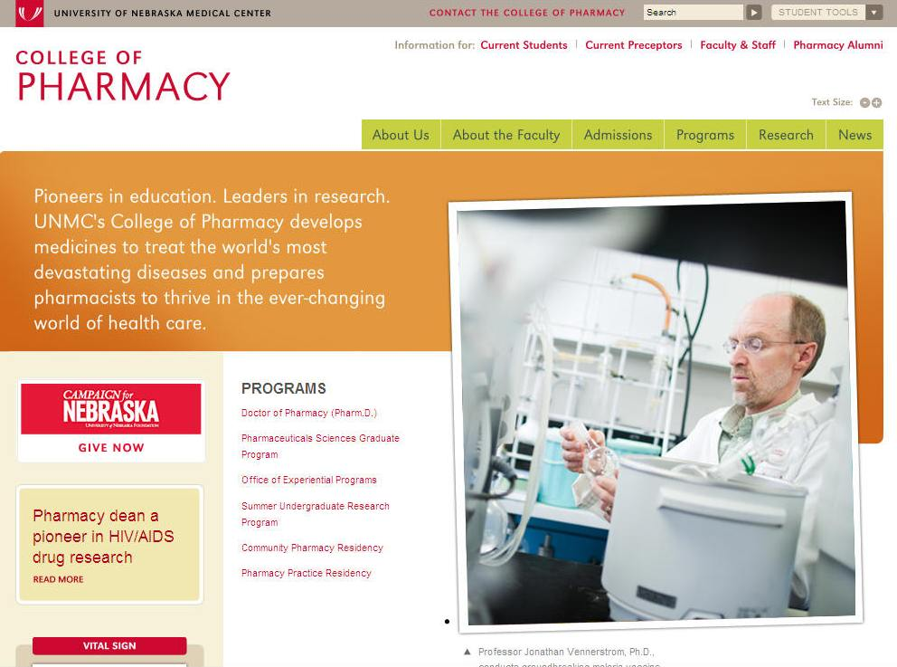 University of Nebraska Medical Center College of Pharmacy