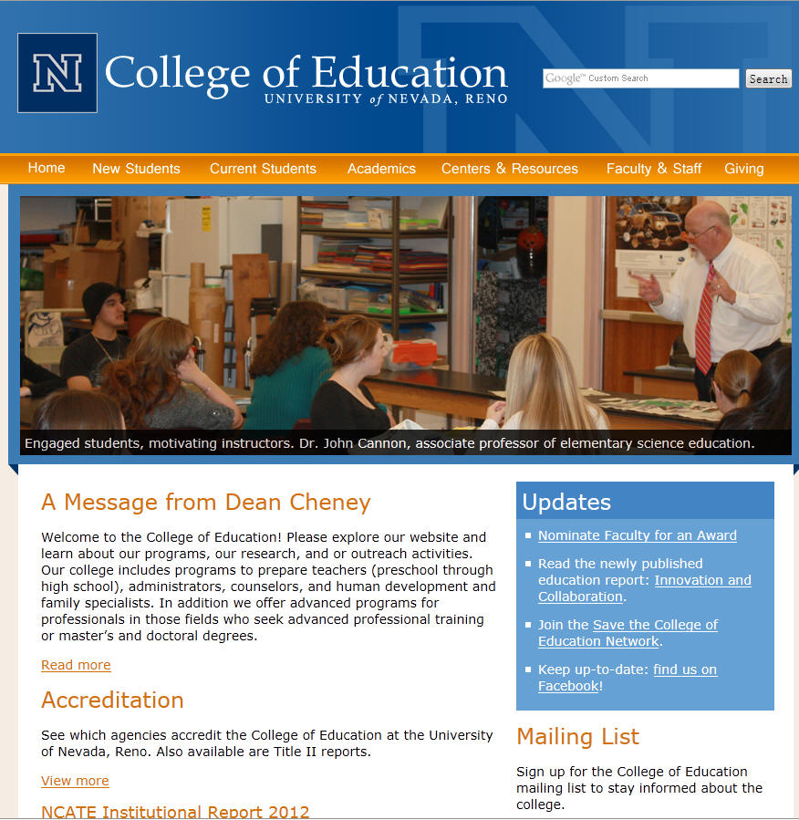 University of Nevada–Reno College of Education