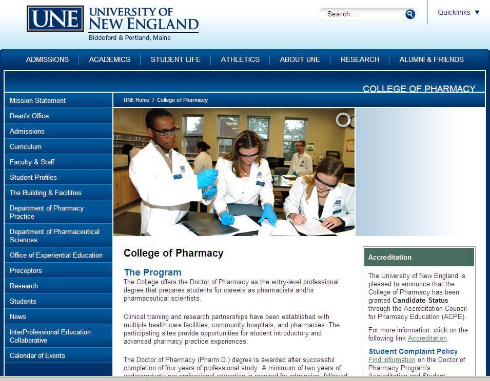 University of New England College of Pharmacy
