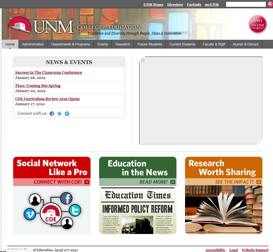 University of New Mexico College of Education