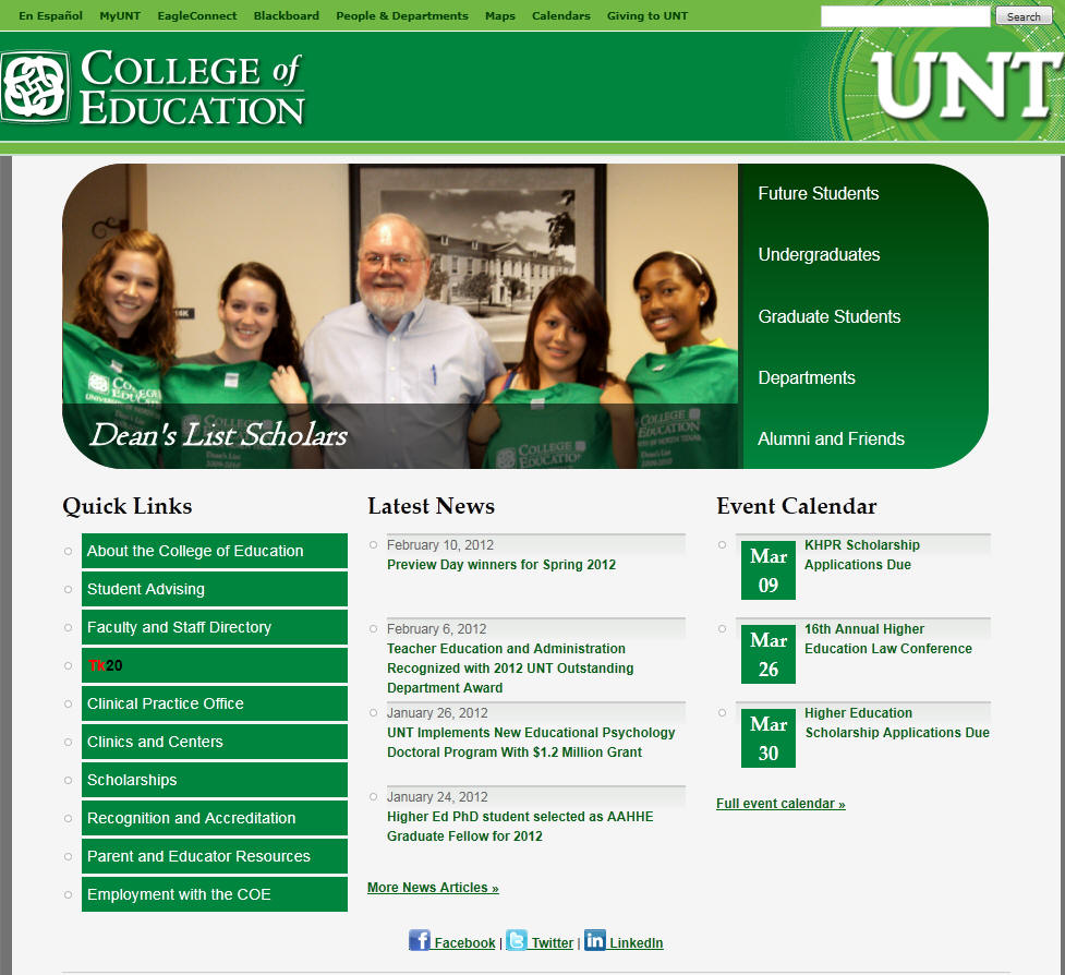 University of North Texas College of Education