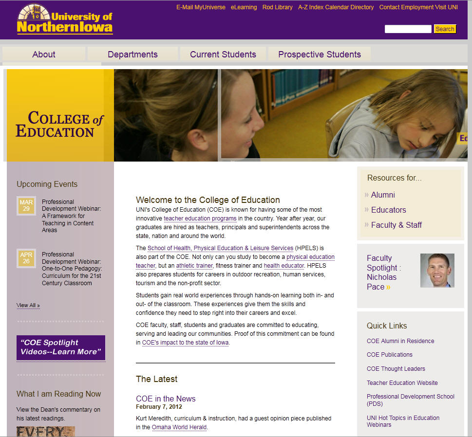 University of Northern Iowa College of Education