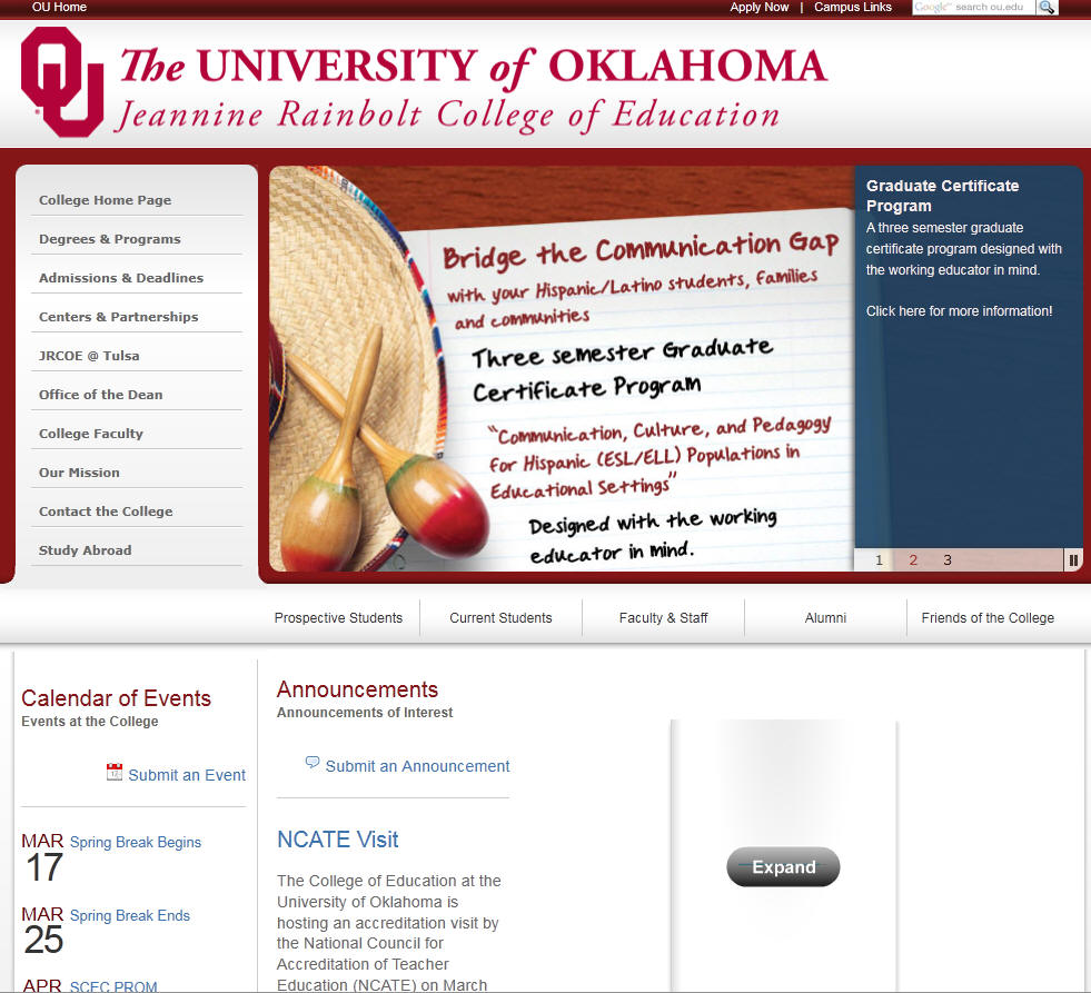 University of Oklahoma College of Education