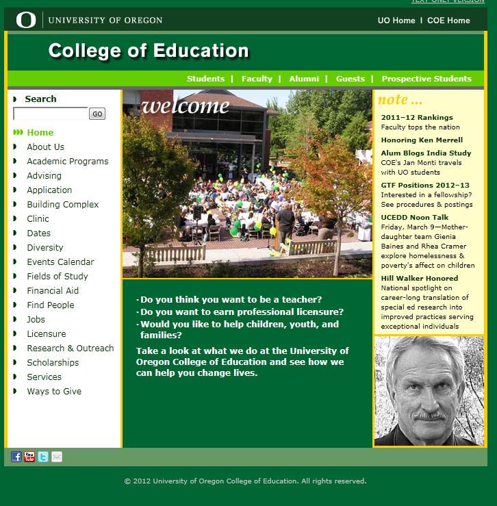 University of Oregon College of Education