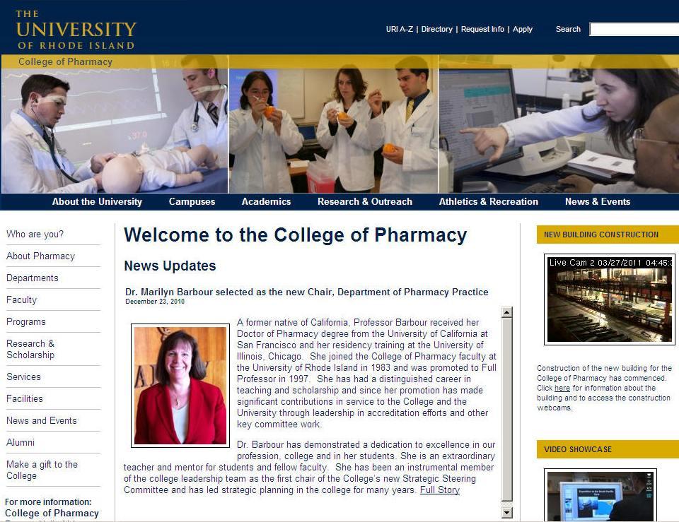 University of Rhode Island College of Pharmacy