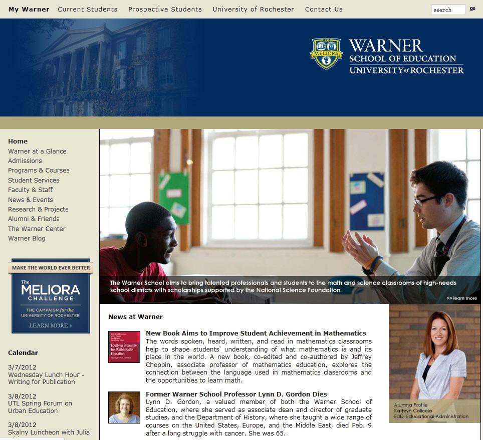 University of Rochester Warner School Education