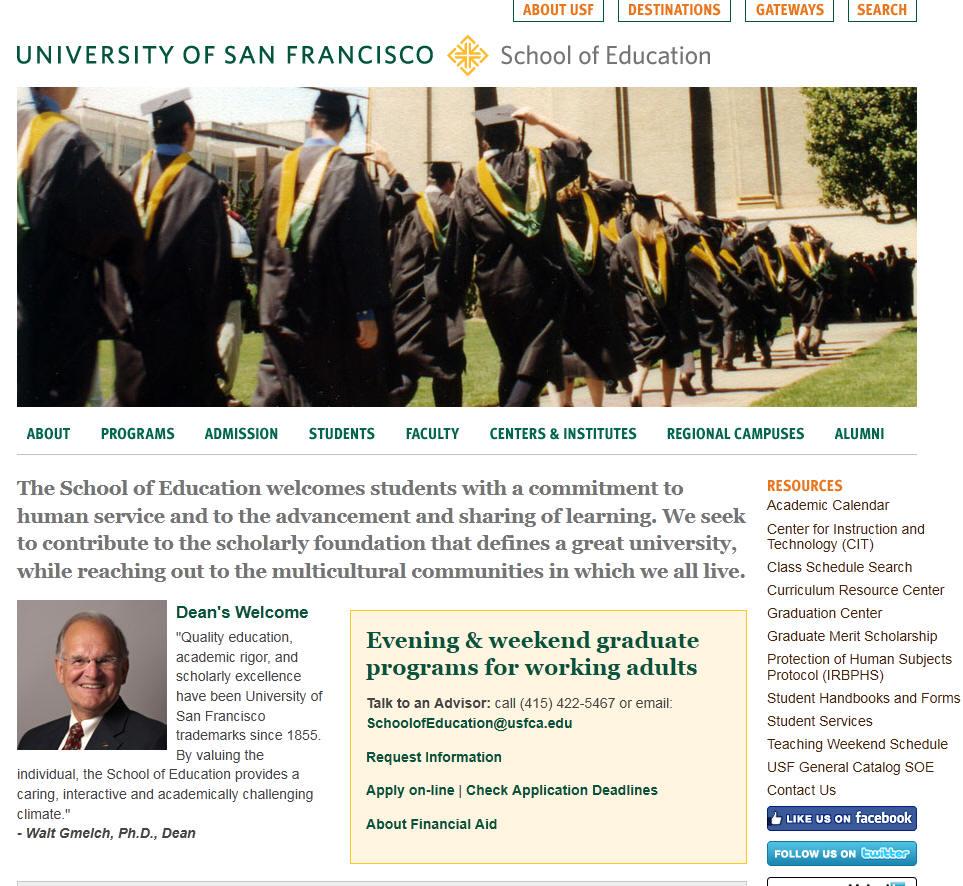 University of San Francisco School of Education