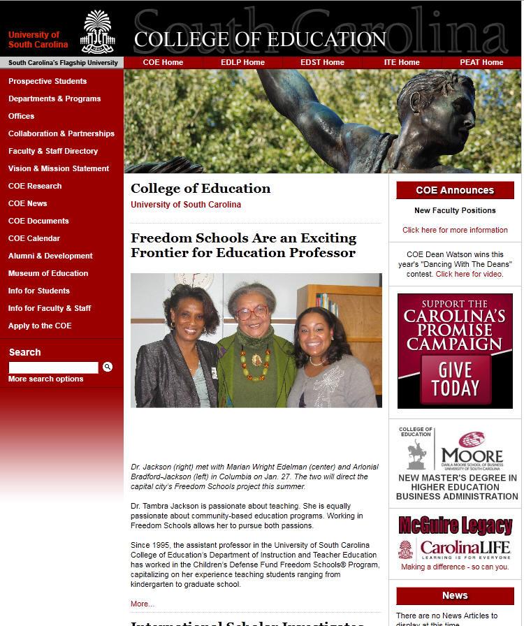 University of South Carolina College of Education