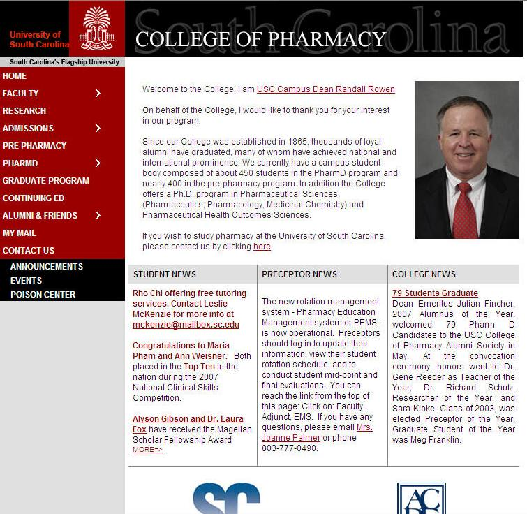 University of South Carolina College of Pharmacy