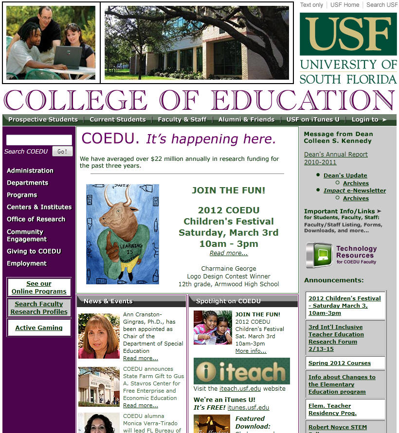 University of South Florida College of Education