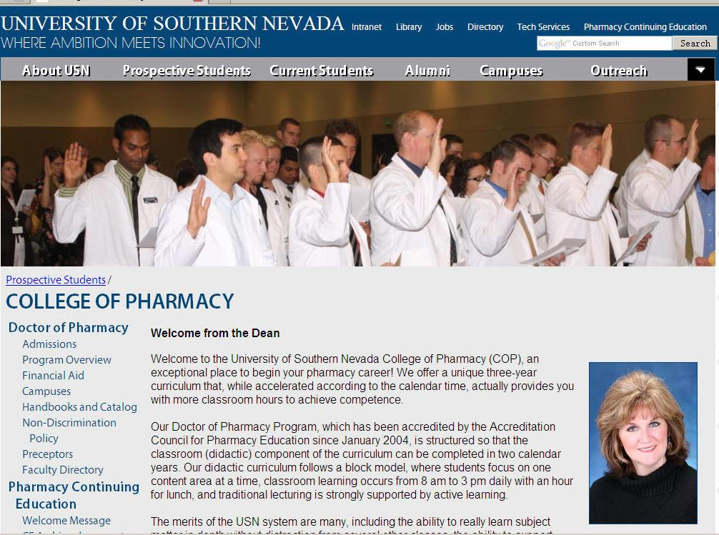 University of Southern Nevada College of Pharmacy