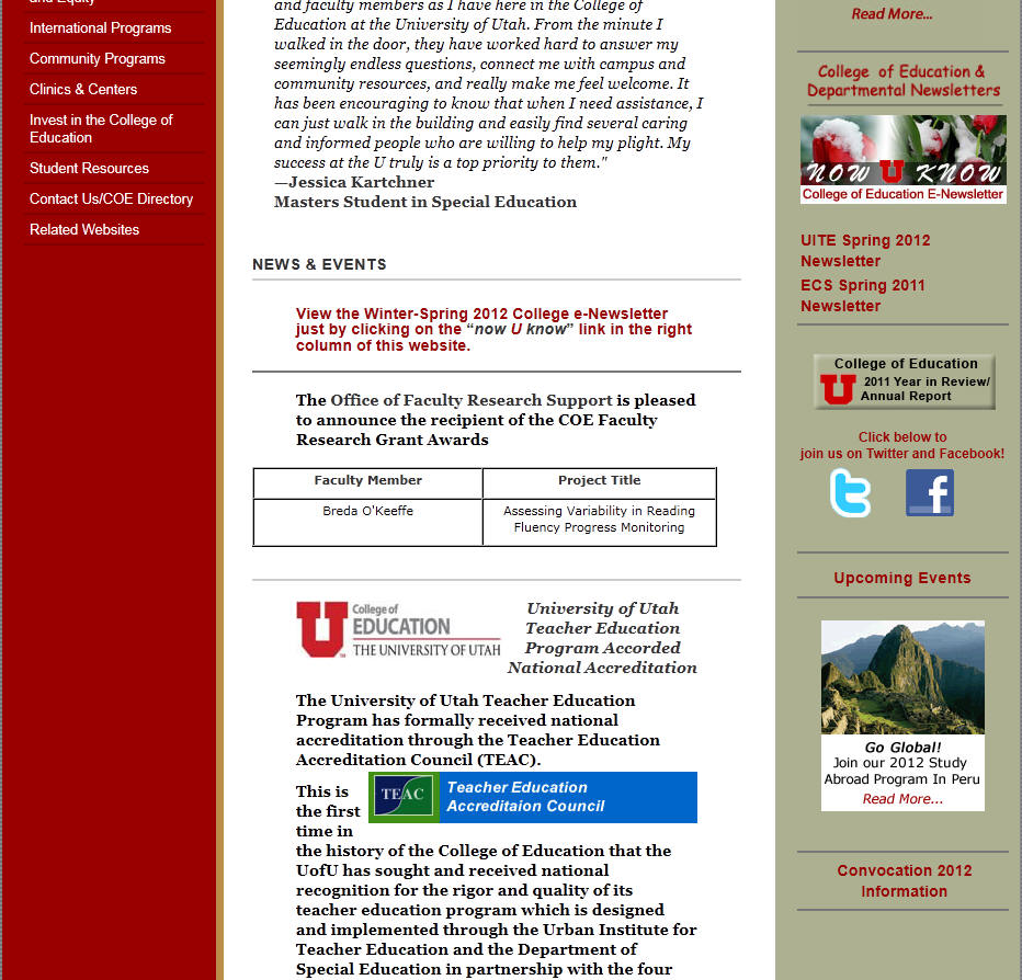 University of Utah College of Education