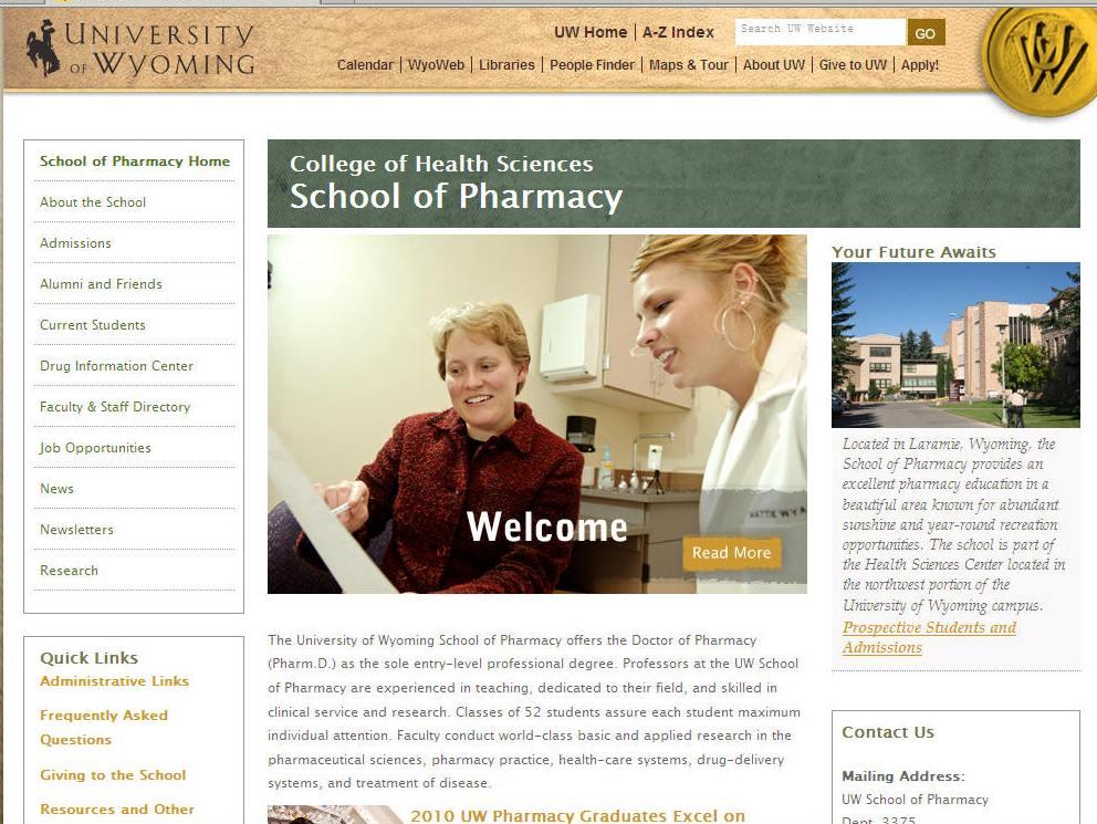 University of Wyoming School of Pharmacy