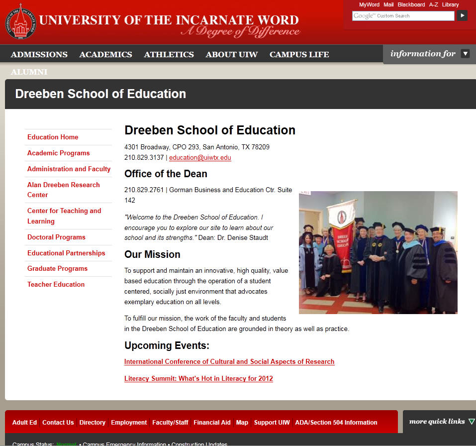 University of the Incarnate Word Dreeben School of Education