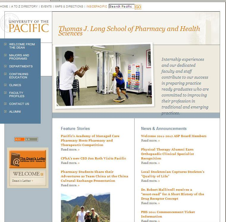 University of the Pacific Thomas J Long School of Pharmacy Health Sciences