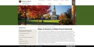 Wake Forest University Undergraduate Business