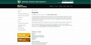 Wayne State University Undergraduate Business