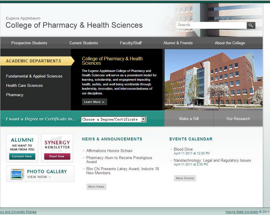 Wayne State University College of Pharmacy and Health Sciences