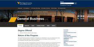 West Virginia University Undergraduate Business