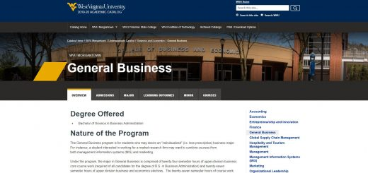 West Virginia University Undergraduate Business