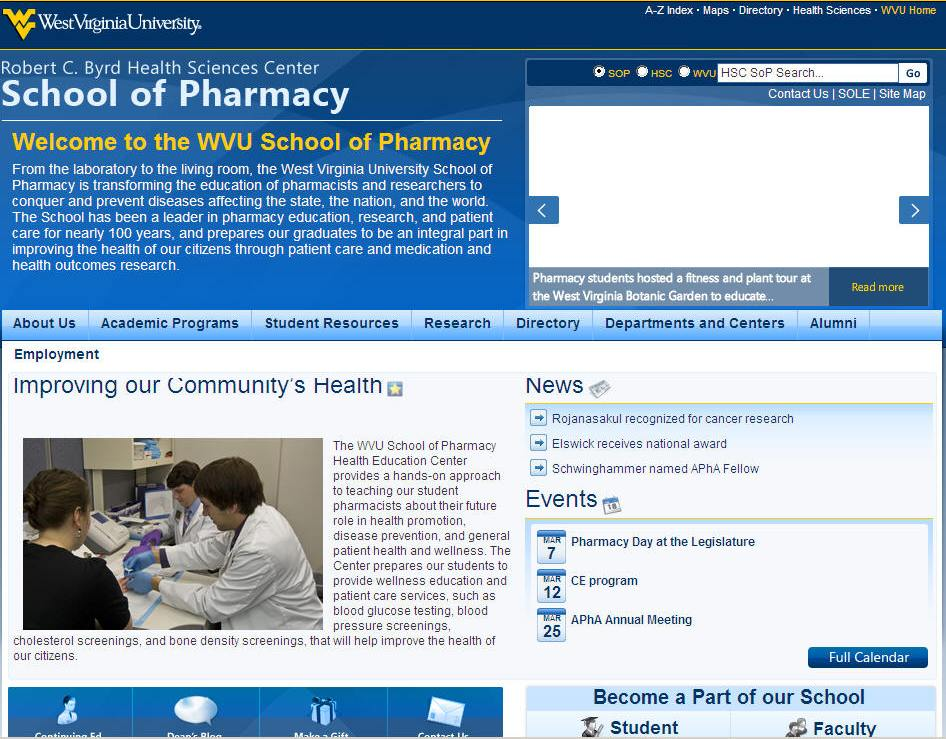West Virginia University School of Pharmacy