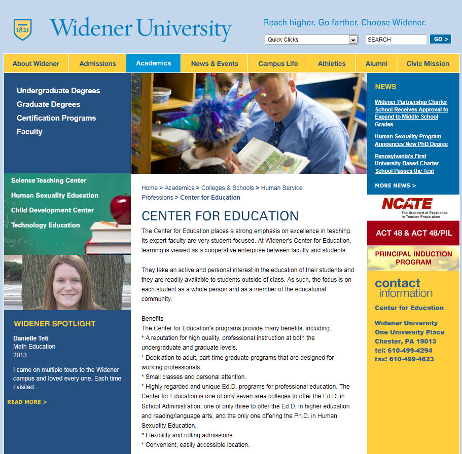 Widener University Center for Education