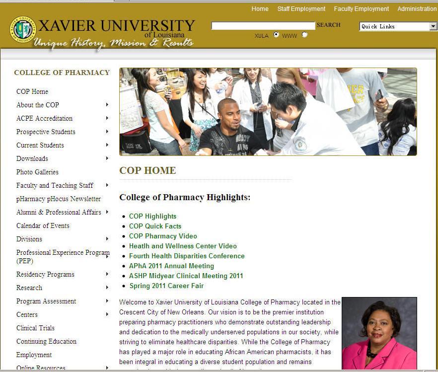 Xavier University of Louisiana College of Pharmacy