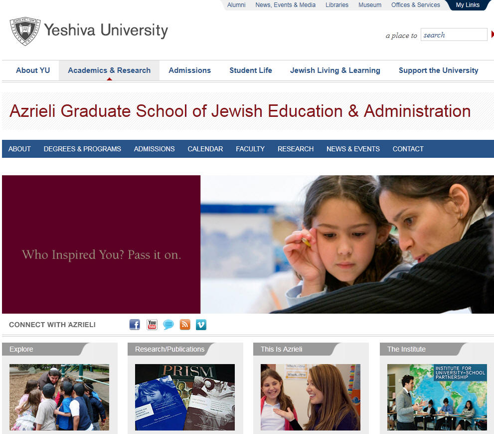 Yeshiva University Azrieli Graduate School of Jewish Education and Administration