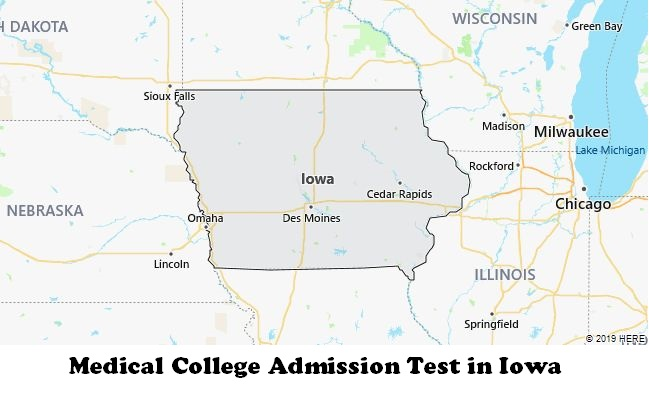 Medical College Admission Test in Iowa